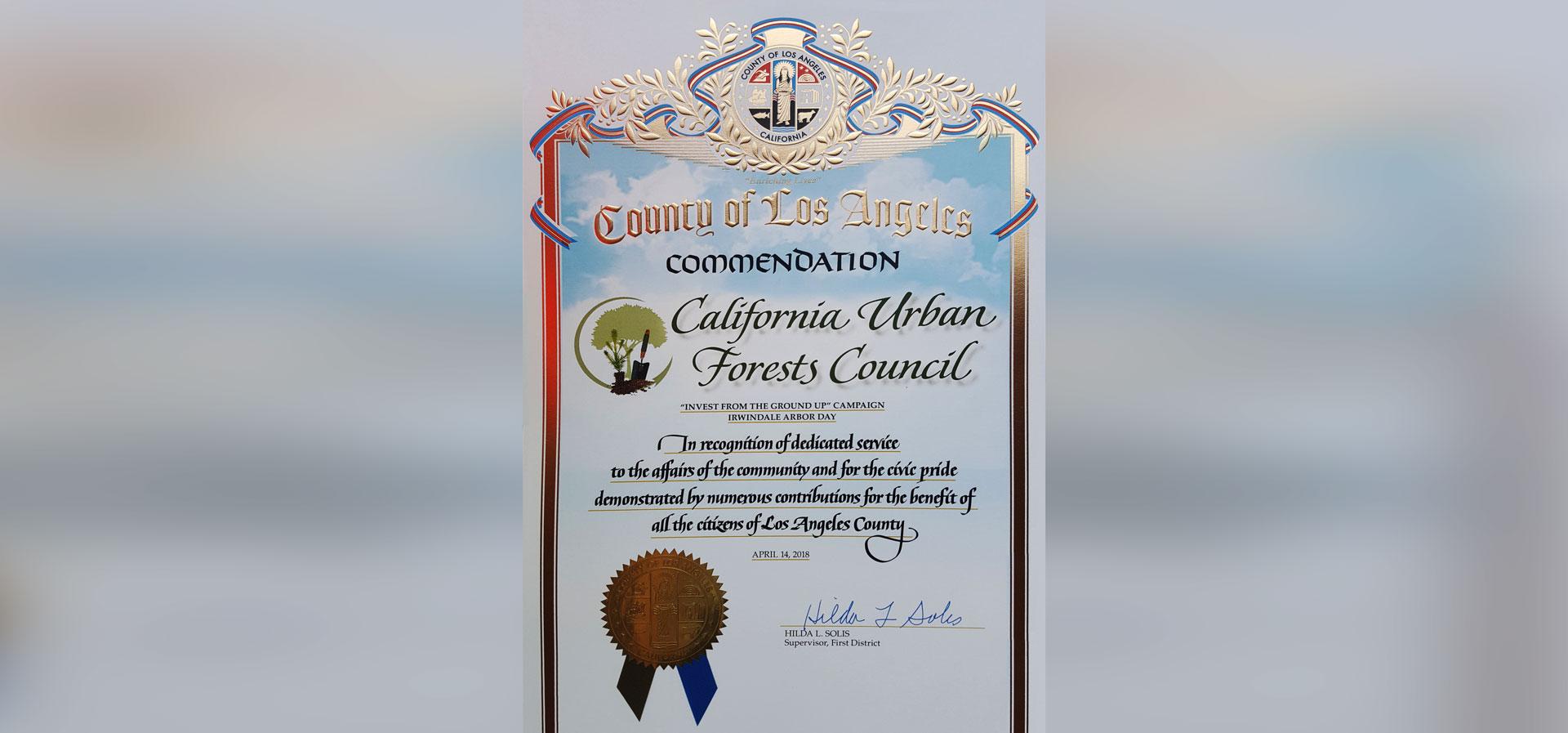 Irwindale-Certificate